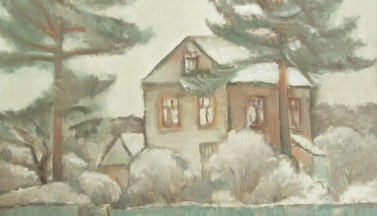 Дом в Мытищах. 2016 х.,м.80х80.