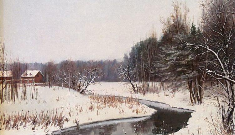 Река Уча Ивантеевка, 40 х 50, холст, масло, 2015