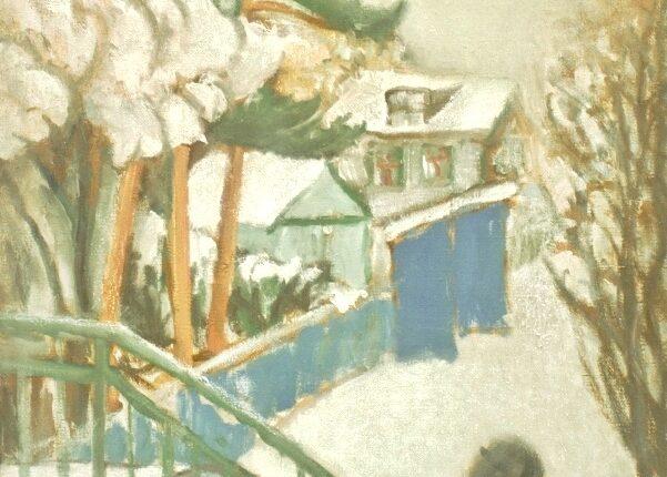 Снег на Тайнинской. 2016 х.,м.80х60