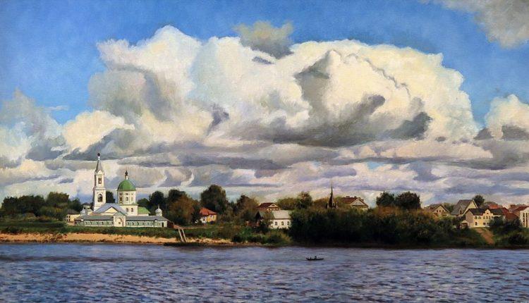 Тверь, река Волга, 50 х 90, холст, масло, 2015